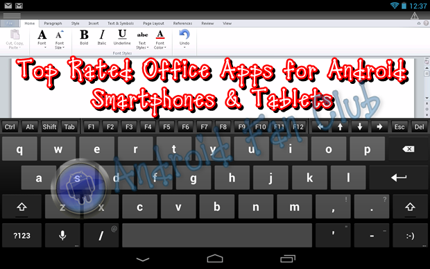 Best android office apps for editing word excel powerpoint viewing pdf documents - Office apps for android free ...
