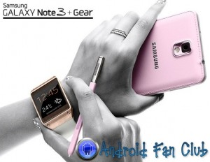 Samsung Galaxy Note 3 and Galaxy Gear Smartwatch