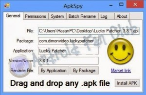 APK SPY - Android Manifest info check, APK Version Check