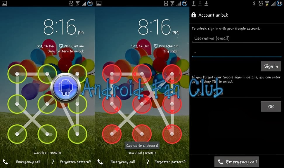 how to remove pattern lock in android using pc