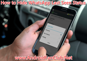 Officially Hide Last Seen Status on WhatsApp Android App