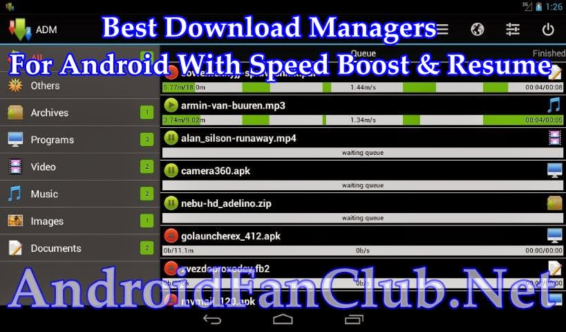 5 apps to speed up boost resume broken downloads on android