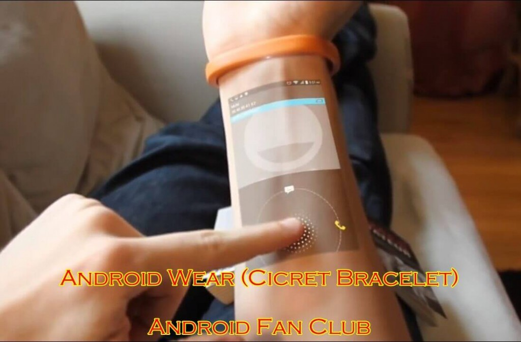 Amazing Android Cicret Bracelet Video